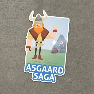 Asgaard Saga De lerende mens - Sticker Asgaard Saga